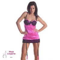Josy, nuisette sexy coloris rose fuschia skys lingerie taille M/L