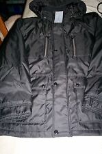NWT! $225 ANDREW MARC NEW YORK MENS HOODED QUILT LINED COAT/JACKET-BLACK-2X XXL