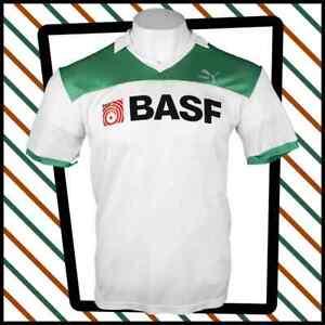 PUMA Vintage 1980s Football Jersey BASF   Collar V Neck  Size M  192 W