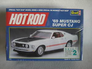 Vintage Hot Rod '69 Mustang Super CJ Cobra Jet Revell Model Kit 1:25 Sealed