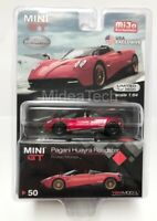 TSM Model Mini GT Pagani Huayra Roadster (Red)  1/64 Diecast Chase Car MGT00050