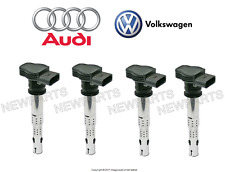 For Audi A3 VW Jetta Set of 4 Ignition Coil with Spark Plug Connector OES