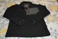 TIMBERLAND Men's M MEDIUM Pull Over Jacket Black Fleece Sweater Sweatshirt
