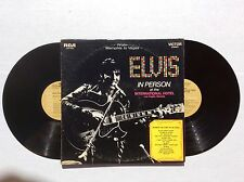ELVIS PRESLEY In Person / Back In Memphis RCA LSP-6020 gatefold 2 LPs Tan label