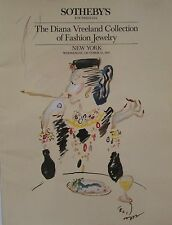 SOTHEBY'S Diana Vreeland Collection of Fashion Jewelry Auction Catalog 1987