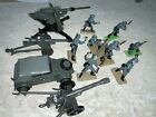 britains toy soldiers , Mortar And Vehicle With 3 Dinky Guns