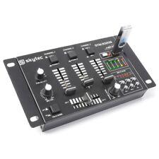 MIXER PROFESSIONALE 2 3 CANALI CON USB SD COMPUTER CASSE AMPLIFICATE MICROFONI