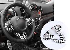 Checkered UK Car Steering Wheel Cover For MINI Cooper F54 F55 F56 F57 F60 F61