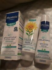 Mustela® Stelatopia®  Emollient Cream, Mustela® and Huile Bath Oil. 3 products.