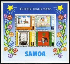 Samoa 586a, MI Bl.29, MNH. Christmas. Children's drawings, 1982