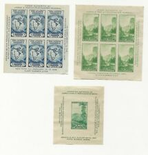 US National Stamp Expo James Farley 1934 and 1937 Byrd, Yosemite and Mountain