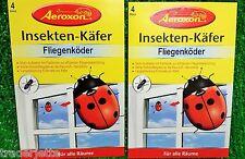 Aeroxon Fenêtre Mouches piège Transparent 4-er PK gratuit Taux 1 Pièces = 1,38 €