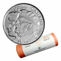 2005 CANADA REMEMBERANCE COMMEMORATIVE QUARTER  FULL ROLL 25 CENTS