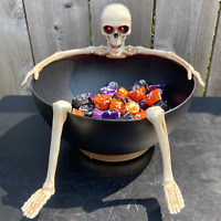 """Animated 8"""" Candy Bowl w/ Laughing Skeleton *NEW* - Gemmy Halloween 2019-20"""