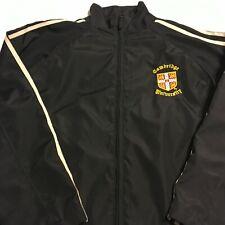 Cambridge University Mens Black Lined Jacket Size XL Polyester