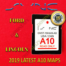 A10 2019 MAP UPDATE Navigation SD CARD SYNC FITS ALL FORD, LINCOLN UPDATES A9