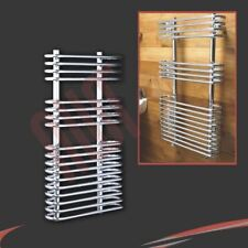 "500mm(w) x 900mm(h) ""Neath"" Chrome Heated Towel Rail 1273 BTUs Warmer Radiator"
