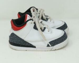 Nike Air Jordan Retro SE Denim Sneakers White & Gray Child Size US 8C