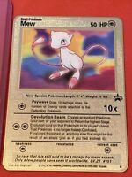 Pokemon Mew Promo Custom Gold Metal Card