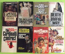 Vintage 1970's Paperback Book Lot Crime Pulp Fiction Gangster OOP