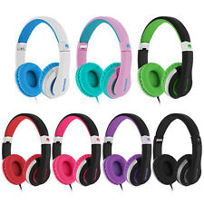 RockPapa 3.5mm Over Ear Adjustable Stereo DJ Foldable Headsets Headphones Mic