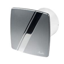 "Bathroom Extractor Fan 100mm / 4"" Silver Chrome Modern Ventilator Kitchen WLS100"