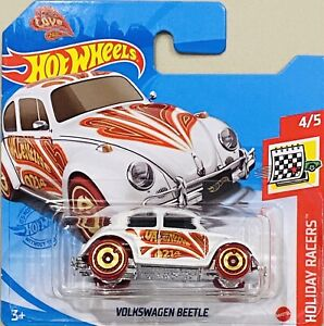 hot wheels Volkswagen Beetle Love Car White 2021 K Box New Release Short Card