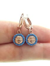 Earring For Woman Handmade Turquoise 925 Silver Turkish Jewelry Rose Gold Plated