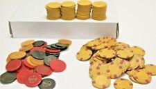 140 Vintage Mixed Poker Chips Casino Bar Tavern Catalin Bakelite Idaho Nevada
