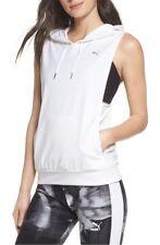 PUMA WOMENS SLEEVELESS Clash Vest - WHITE -SIZE - XXS