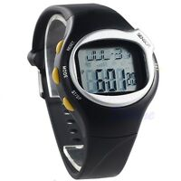 Men Sports Running Pulse Heart Rate Monitor Fitness Calories Wrist Watch Black