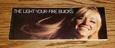 Original 1970 Buick Performance Sales Brochure 70 GS Coupe GS 455 Skylark 350