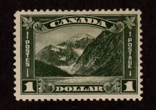 DR STEVE STAMPS A132 CANADA MOUNT EDITH CAVELL SCOTT 177 $1.00 HINGED CREAM GUM