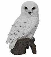 "9.3"" MOTION ACTIVATED SNOW OWL FIGURINE LIFELIKE ANIMAL HOME, GARDEN DECOR"