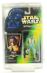 Greedo Kenner Star Wars Potf Green Card Action Figure 1996 Sealed