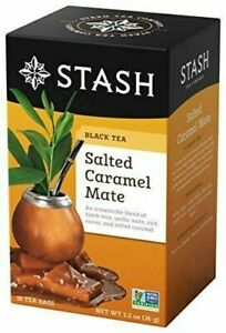 NEW Stash Tea Salted Caramel Mate Black Tea Blends 18 Bag