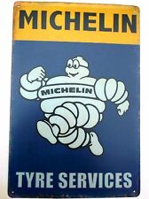 MICHELIN DESIGN 2  METAL TIN SIGNS vintage cafe pub bar garage decor shabby chic