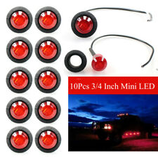 10X Red 12V CAR TRUCK TRAILER SMALL ROUND LED BULLET BUTTON Mini MARKER LIGHTS