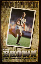 1990s Gavin Brown Collingwood Club Ten Wanted Football poster Magpies