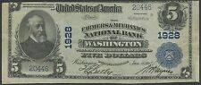 FR602 $5 1902 FARMERS & MECHANICS NAT'L BANK OF WASH, DC VF+ MISCUT ERROR BS2635