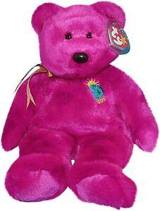 Ty Beanie Babies - MILLENNIUM the purple bear Beanie Buddy soft toy