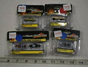 Lot 9-228 * N Scale 4 x Assorted Pkgs. Woodland Scenics Painted Figures/Vehicles