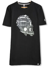 Adidas Basketball James Harden Men's Black Geometric T-Shirt Beard Graphic Sz L