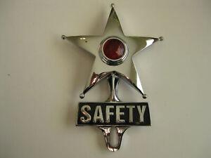 CHROME SAFETY STAR RED TAIL/BRAKE LIGHT STEEL HOTROD RATROD CUSTOM FORD CHEV