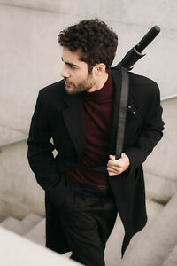 M&P Clima Stylish Auto Open Stick Gents Umbrella with Shoulder Strap & Sleeve