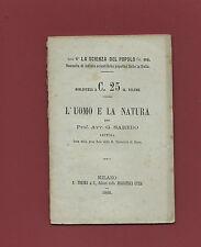 Libro L'Uomo e la Natura Lettura nella Gran Sala della R. Università Siena 1868