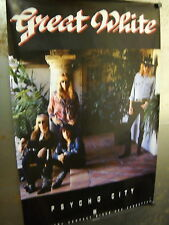 GREAT WHITE 1992 Large PROMO POSTER from PSYCHO CITY supermint condition