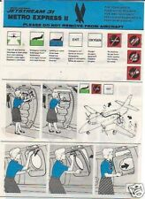 Safety Card - Metro Express II - J31 - American Eagle (S2137)