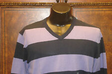 NWT OLD Navy V Neck Sweater - Navy Blue with Light Purple Stripes