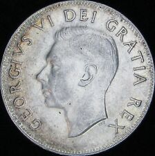 1951 AU Canada Silver 50 Cents (Fifty, Half) - KM# 45 - Free Shipping - JG